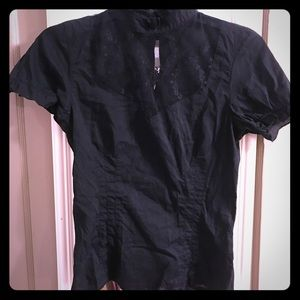 Black lacy goth top